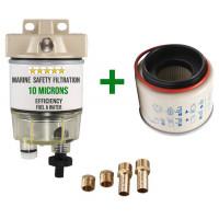 Filtro decantatore / separatore aqua / gasolio per fuoribordo