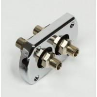 Kit passa paratia per tubo idraulico doppio raccordato